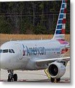 American Airlines A319 Metal Print