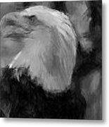 American Bald Eagle V4 Metal Print