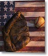 American Baseball Metal Print