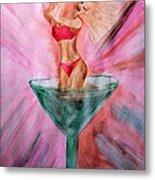 American Beauty Martini Metal Print
