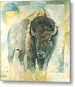 American Bison Buffalo Bull Metal Print