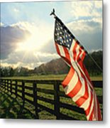 American Country Metal Print by Mary Lawson