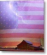 American Country Storm Metal Print