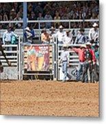 American Cowboy Bucking Rodeo Bronc Metal Print