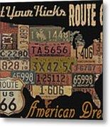 American Dream-route 66 Metal Print