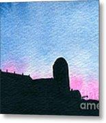 American Farm #2 Silhouette Metal Print