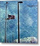 American Flag As A Painting Metal Print