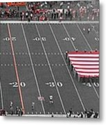 American Flag At Paul Brown Stadium Metal Print by Dan Sproul