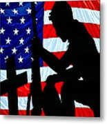 A Time To Remember American Flag At Rest Metal Print