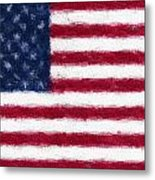 American Flag Embossed Metal Print