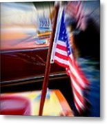 American Flag Focus Metal Print