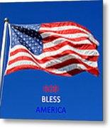 American Flag - God Bless America Metal Print