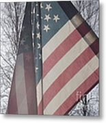 American Flag Metal Print by Jennifer Kimberly