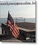 American Flag Metal Print by Laurence Oliver
