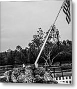 American Flag Monument Metal Print