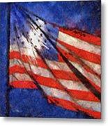 American Flag Photo Art 02 Metal Print
