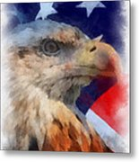 American Flag Photo Art 03 Metal Print
