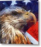 American Flag Photo Art 04 Metal Print