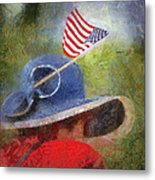 American Flag Photo Art 06 Metal Print