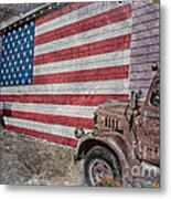 American Flag Route 66 Metal Print