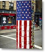 American Flag Tiles Metal Print by Garry Gay