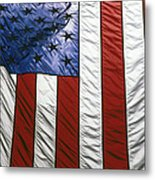 American Flag Metal Print by Tony Cordoza