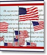 American Flag Tribute  Metal Print