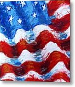 American Flag Metal Print by Venus