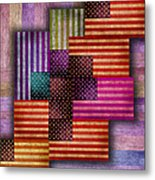 American Flags Metal Print by Tony Rubino