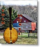 American Folk Music Metal Print