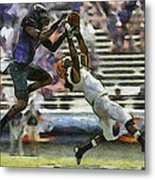 American Football 3 Of 3 Metal Print