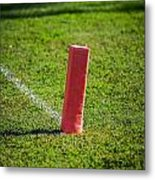 American Football Field Marker Metal Print