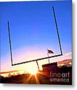 American Football Goal Posts Metal Print
