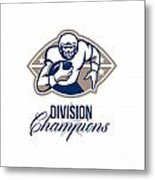 American Football Runningback Division Champions Metal Print by Aloysius Patrimonio