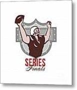 American Football Series Finals Retro Metal Print