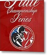 American Football State Championship Series Poster Metal Print
