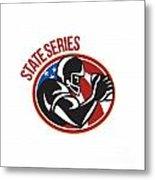 American Football State Series Ball Metal Print by Aloysius Patrimonio