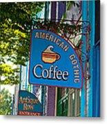 American Gothic Coffee Metal Print