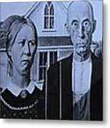American Gothic In Colors Metal Print