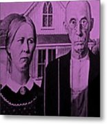 American Gothic In Pink Metal Print