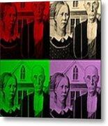 American Gothic In Quad Colors Metal Print