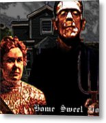 American Gothic Resurrection Home Sweet Home 20130715 Metal Print