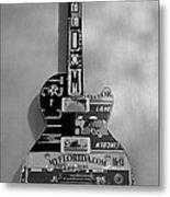 American Guitar In Black And White1 Metal Print