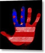 American Hand Metal Print