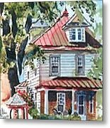 American Home With Children's Gazebo Metal Print by Kip DeVore