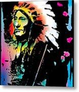 American Indian Silo Metal Print