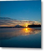 American Lake Sunrise Metal Print