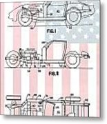 American Made Corvette Patent Metal Print