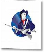 American Minuteman Revolutionary Soldier Metal Print