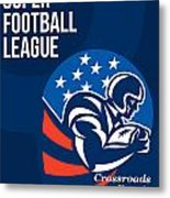 American National Super Football League Poster  Metal Print
